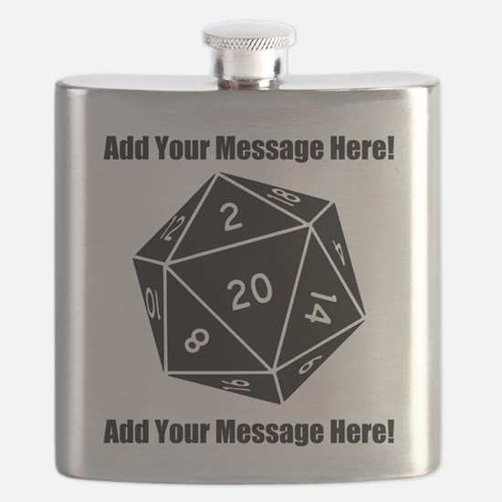 Personalized D20 Graphic Flask