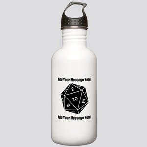 Personalized D20 Graph Stainless Water Bottle 1.0L