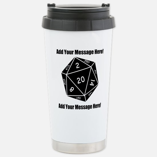 Personalized D20 Graphi Stainless Steel Travel Mug