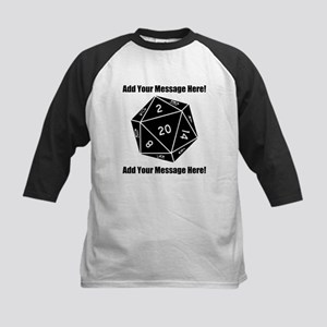 Personalized D20 Graphic Kids Baseball Jersey