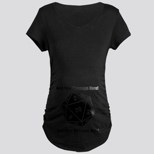 Personalized D20 Graphic Maternity Dark T-Shirt
