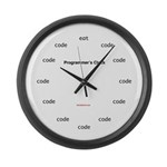 Programmer's Large Wall Clock