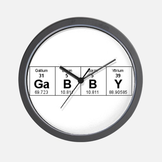 Cool Periodic table of the elements Wall Clock