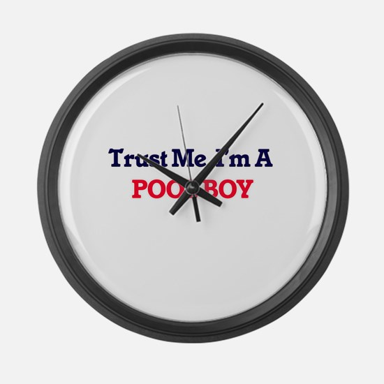 Trust me, I'm a Pool Boy Large Wall Clock