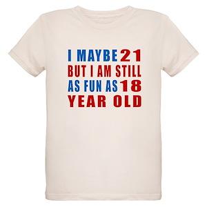 21st Birthday Organic Kids T Shirts