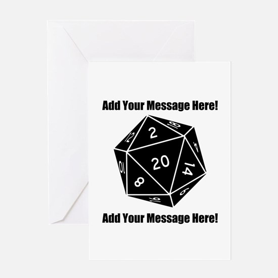 Personalized D20 Graphic Greeting Card