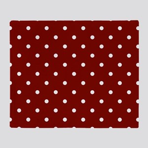Red, Maroon: Polka Dots Pattern (Sma Throw Blanket