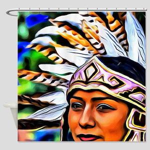 Aztec Priestess Shower Curtain