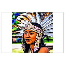 Aztec Priestess Large Poster
