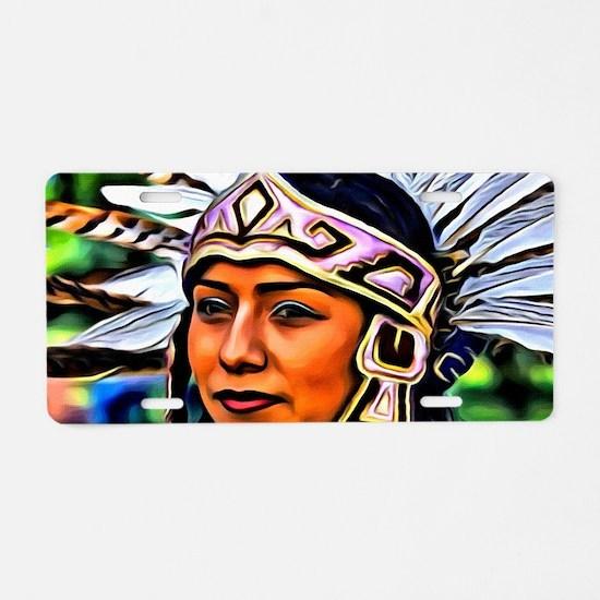 Aztec Priestess Aluminum License Plate