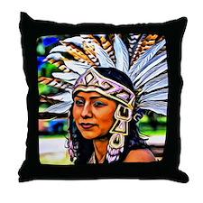 Aztec Priestess Throw Pillow