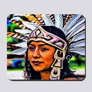 Aztec Priestess Mousepad