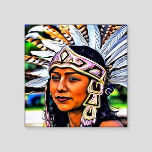 "Aztec Priestess Square Sticker 3"" x 3"""