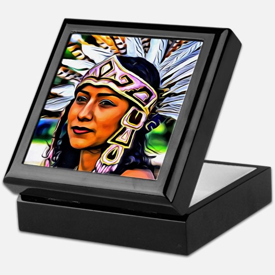 Aztec Priestess Keepsake Box