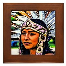 Aztec Priestess Framed Tile