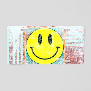 Smiley Face Vintage Aluminum License Plate
