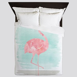 Beach Flamingo Queen Duvet