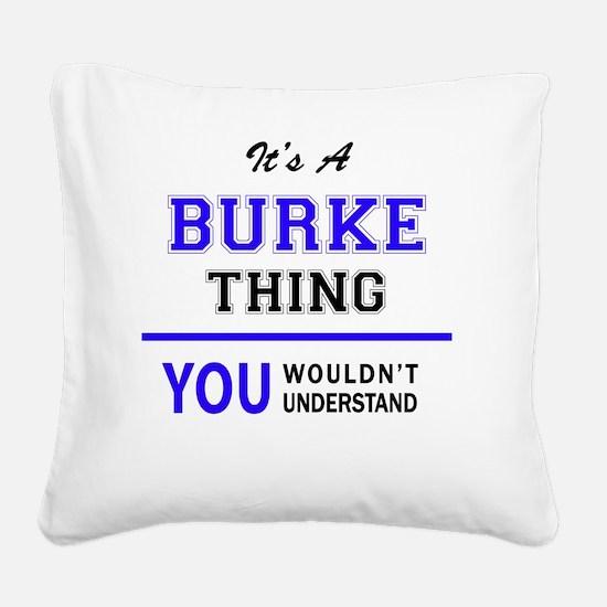Unique Burke Square Canvas Pillow