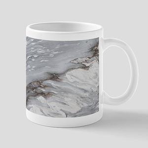abstract grey marble swirls Mugs