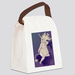 Unicorn Pinup Canvas Lunch Bag