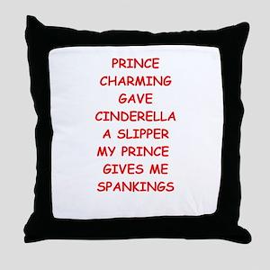 spankings Throw Pillow