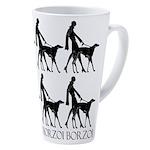 Borzoi Borzoi Borzoi 17 Oz Latte Mug