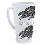 Leaping Borzoi 17 Oz Latte Mug