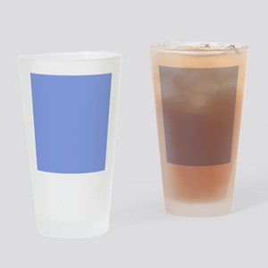 Periwinkle Blue Solid Color Drinking Glass