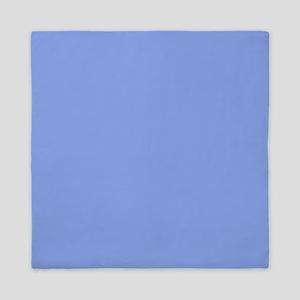 Periwinkle Blue Solid Color Queen Duvet
