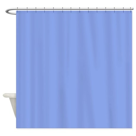 Periwinkle Blue Solid Color Shower Curtain By Admin CP133666635