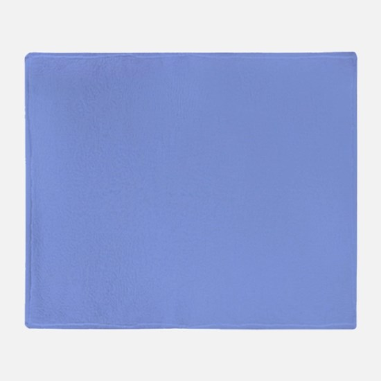 Periwinkle Blue Solid Color Throw Blanket