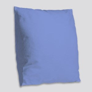 Periwinkle Blue Solid Color Burlap Throw Pillow