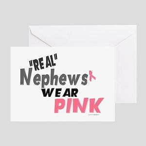 """Real"" Nephews Wear Pink 1 Greeting Card"