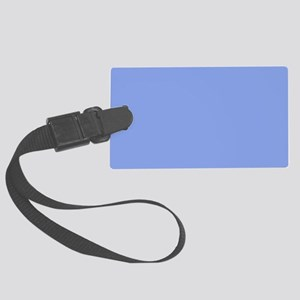 Periwinkle Blue Solid Color Large Luggage Tag