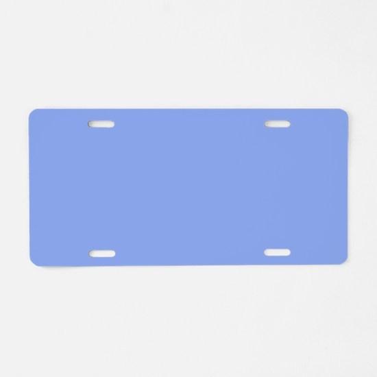 Periwinkle Blue Solid Color Aluminum License Plate