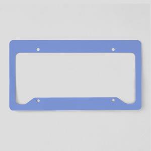 Periwinkle Blue Solid Color License Plate Holder