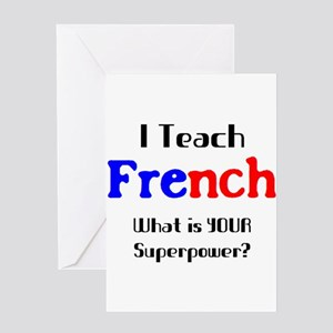 French language greeting cards cafepress teach french greeting card m4hsunfo
