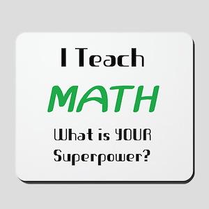 teach math Mousepad