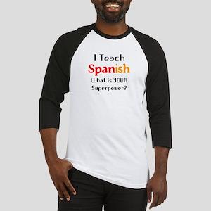 teach spanish Baseball Tee