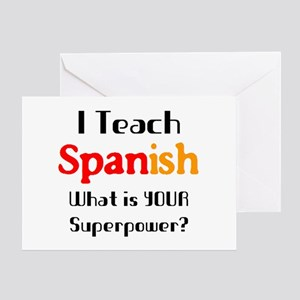 teach spanish Greeting Card