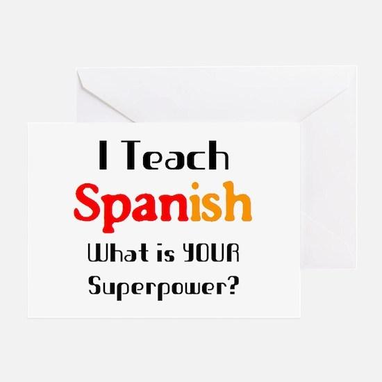 teach spanish Greeting Card
