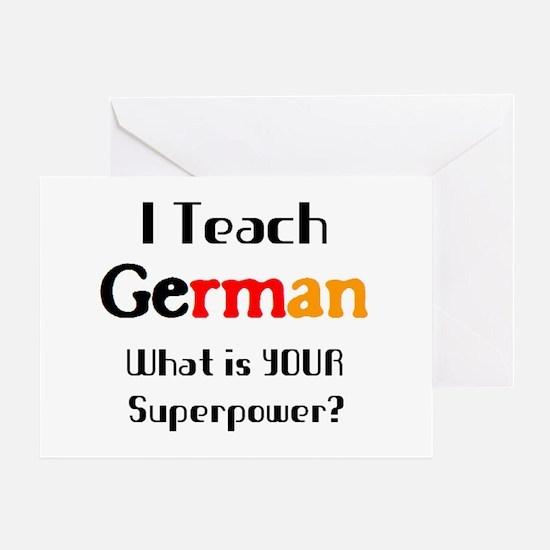 teach german Greeting Card