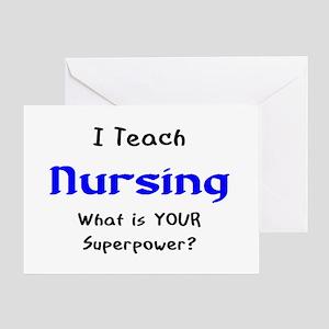 teach nursing Greeting Card