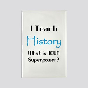 teach history Rectangle Magnet
