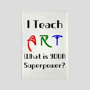 teach art Rectangle Magnet