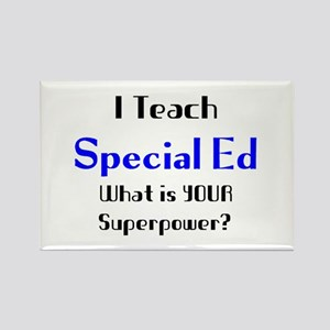 teach special ed Rectangle Magnet