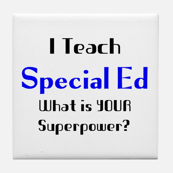 teach special ed Tile Coaster