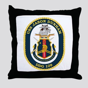 USS Jason Dunham - DDG-109 Throw Pillow