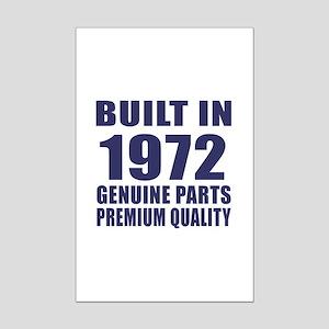 Built In 1972 Mini Poster Print
