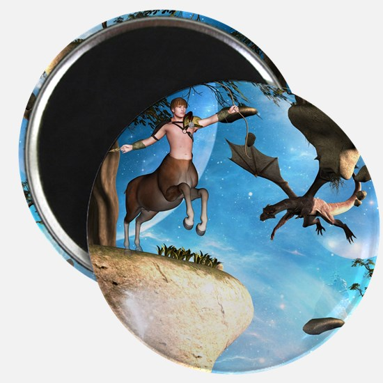 Awesome centaur with arrow and bow Magnets
